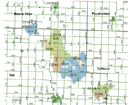 drainage districts in small section of iowa