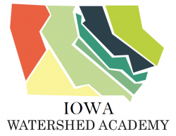 colorful graphic of watersheds in the state of Iowa