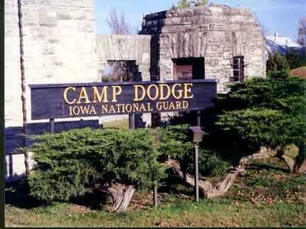camp dodge sign