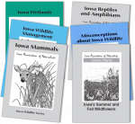 Collage of covers of the original Iowa Association of Naturalists series