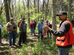 Presentation at a forestry field day.